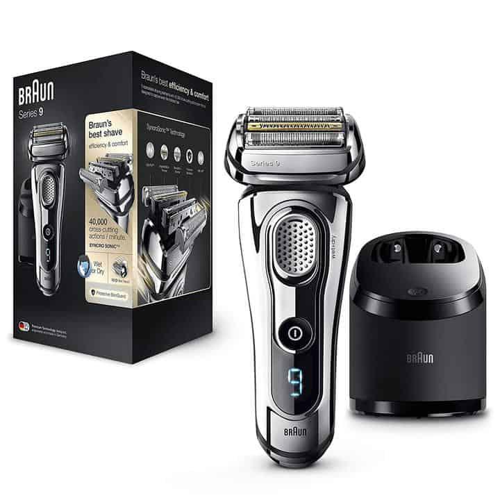 Oferta afeitadora eléctrica Braun Series 9 con base limpiadora por 175 euros (Cupón Descuento)