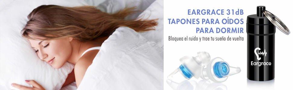 Tapones para los oídos anti ruido Eargrace por 7,99 euros en Amazon (Cupón Descuento)