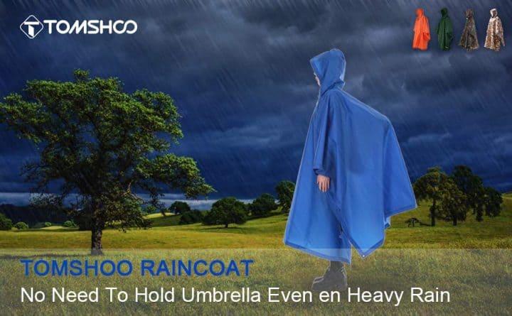 Poncho de lluvia impermeable Tomshoo de oferta por 10 euros (Cupón Descuento)