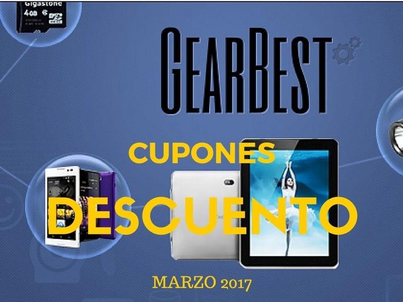 💰 Cupones de descuento Gearbest Marzo 2017