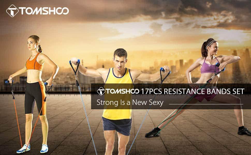 Chollo bandas elásticas para fitness o pilates TomShoo por 15,99 euros (Cupón 50% Descuento)