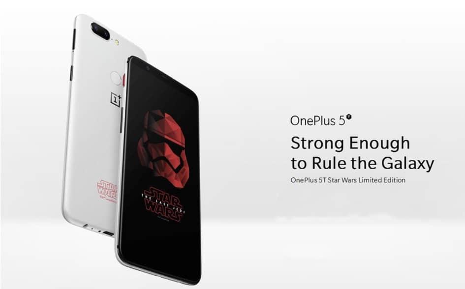 Chollo Oneplus 5T Star Wars Limited Edition por 484 euros (Cupón Descuento)