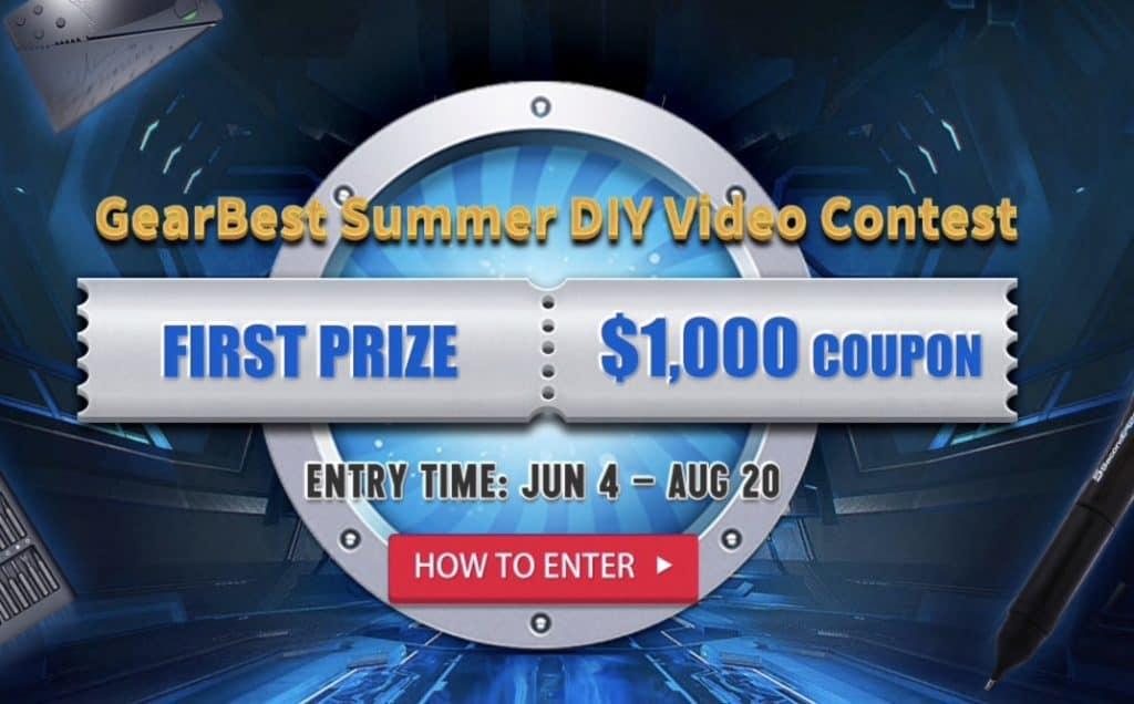 Gana 1000 dólares con el concurso de GEARBEST