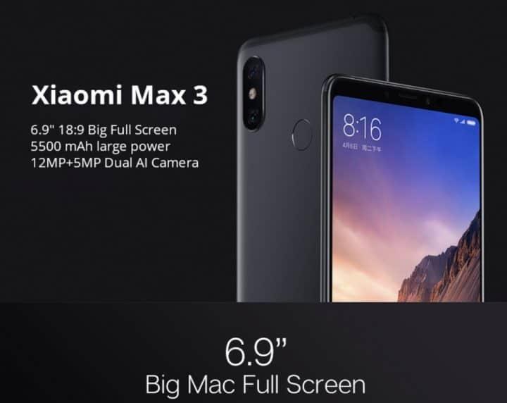 Xiaomi Mi Max 3 comprar barato al precio minimo de oferta con cupón descuento. Con envío GRATIS Libre de aduanas para España.