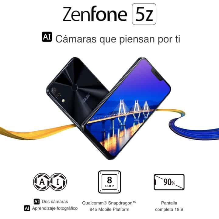 Oferta smartphone Asus Zenfone 5Z 64GB por 390 euros (Oferta FLASH)