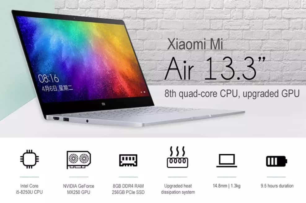 Portátil Xiaomi Air 13 2019 de oferta por 684 euros (Cupón Descuento)
