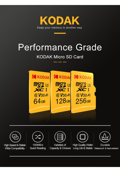 Tarjeta original MicroSD Kodak V30 A1 de 64GB de oferta
