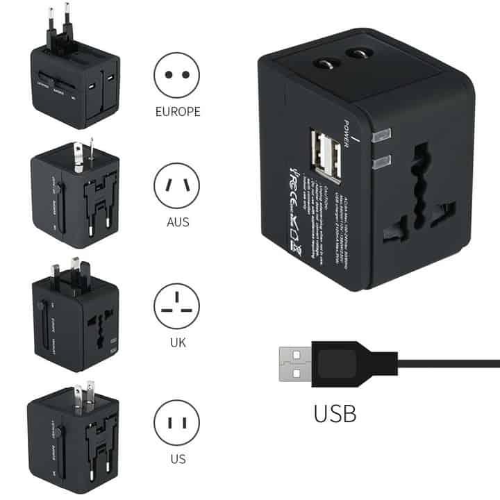 Chollazo Cargador USB y Adaptador de Viaje Universal por 6 euros (Oferta FLASH)