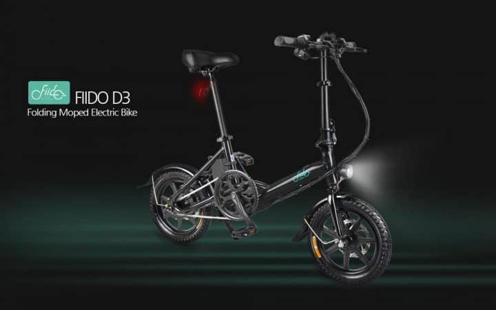 Comprar Bicicleta eléctrica plegable FIIDO D3 versión cambiante (con cambio de marchas) de oferta en GEEKBUYING por 326 euros con envío rápido desde Europa RECUERDA: Tienes que teclear el cupón descuento GKB233S en tu carrito de la compra antes de pagar.