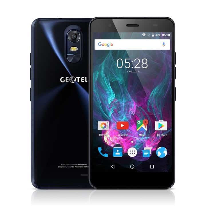 Smartphone Geotel Note 4G de 5,5 pulgadas por 76 euros (Oferta FLASH)
