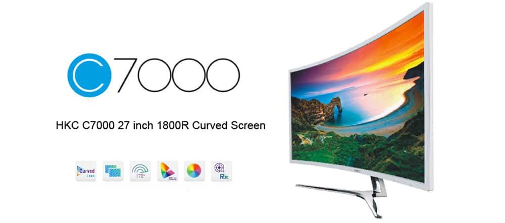 """Oferta Monitor curvo HKC C7000 27"""" por 175 euros (Cupón Descuento)"""