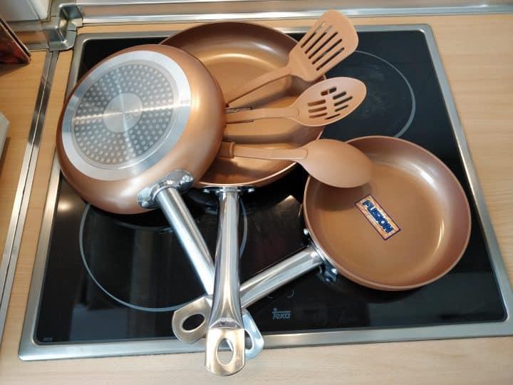Oferta Juego de sartenes de cobre antiadherentes DEIK por 59 euros (Oferta FLASH)