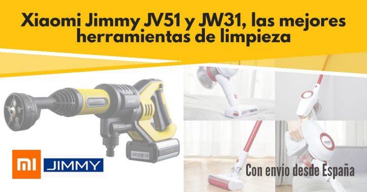 Xiaomi JIMMY JV51 y JW31 los mejores gadgets para limpieza desde España (Cupón Descuento)