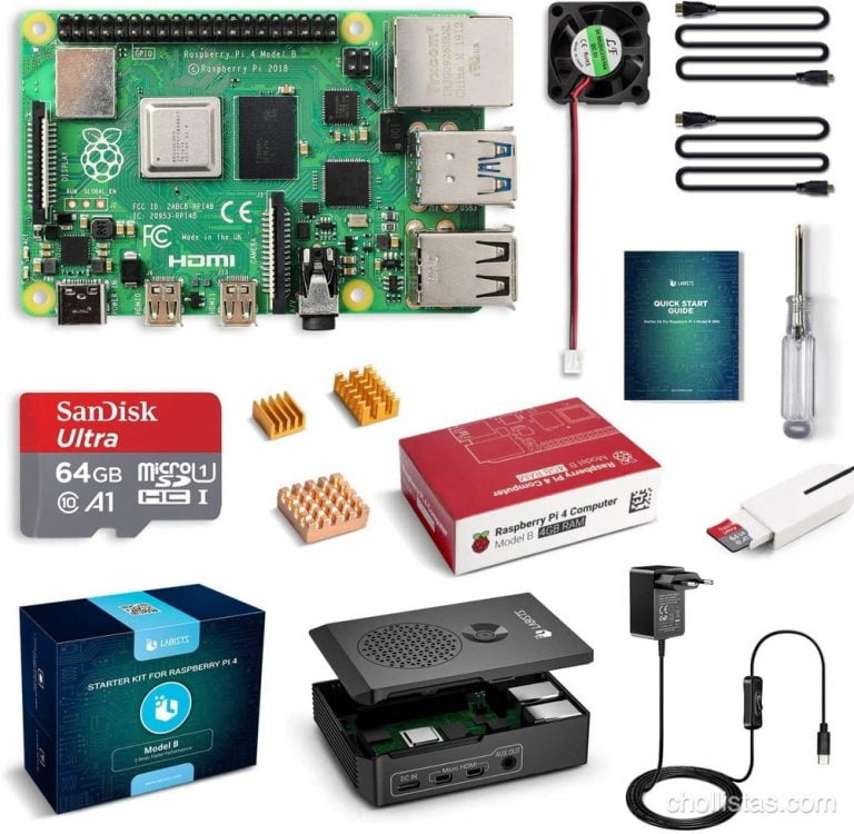 Kit completo Raspberry Pi 4 Model B de oferta por 83 euros en Amazon
