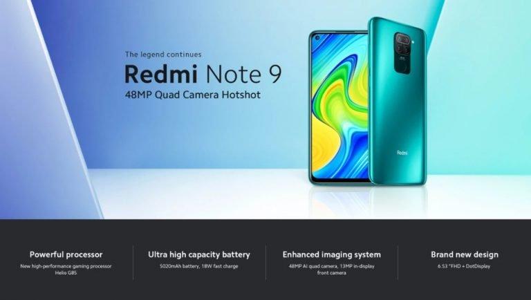 Oferta Xiaomi Redmi Note 9 por 113 euros desde Europa