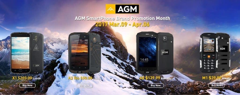 El mes de AGM en TomTop. Super ofertas en móviles para viajeros