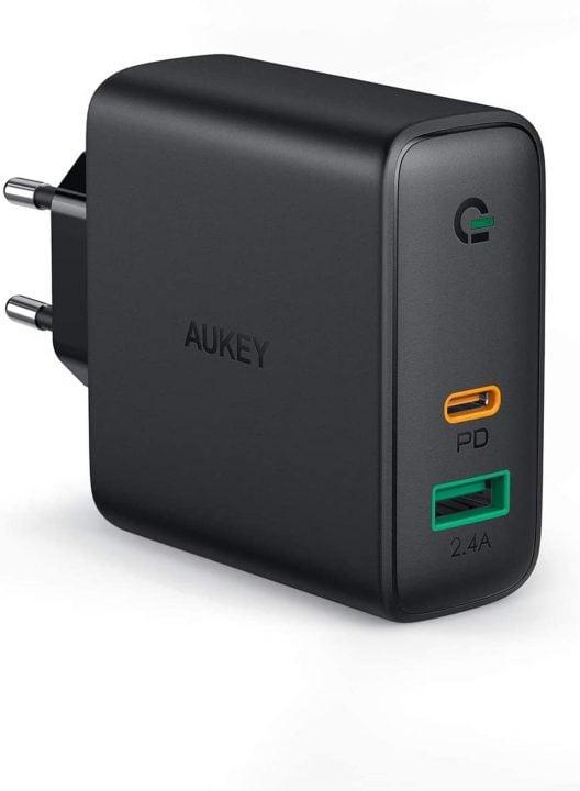 Oferta Cargador USB C 60W AUKEY por 24,59 euros (Cupón Descuento) 1 cargador ultracompacto AUKEY