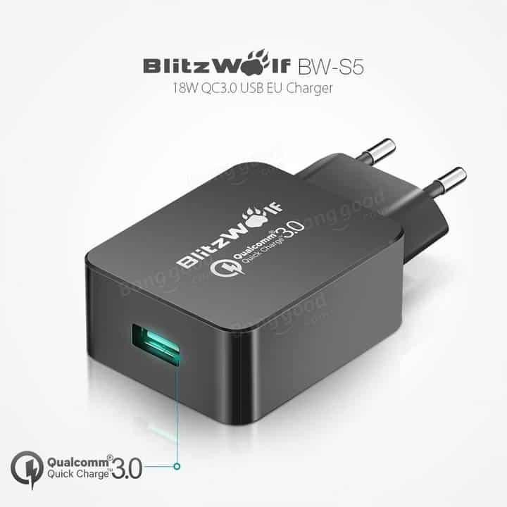 Oferta cargador USB Quick Charge 3.0 BlitzWolf por 5 euros