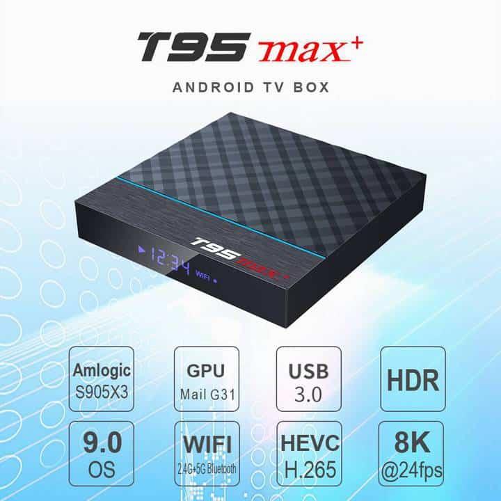 Oferta TV Box Android T95 MAX+ por 34 euros (Cupón descuento)