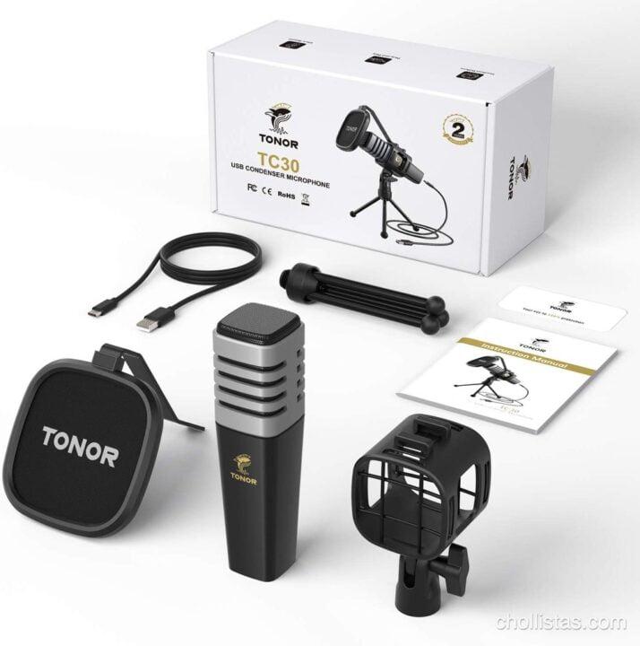 Micrófono USB de Condensador TONOR TC30