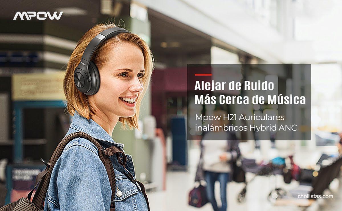 Chollo auriculares bluetooth Mpow H21 con cancelación activa de ruido por 67 euros 4 mpow h21