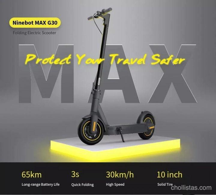 Patinete eléctrico Ninebot MAX G30 de oferta