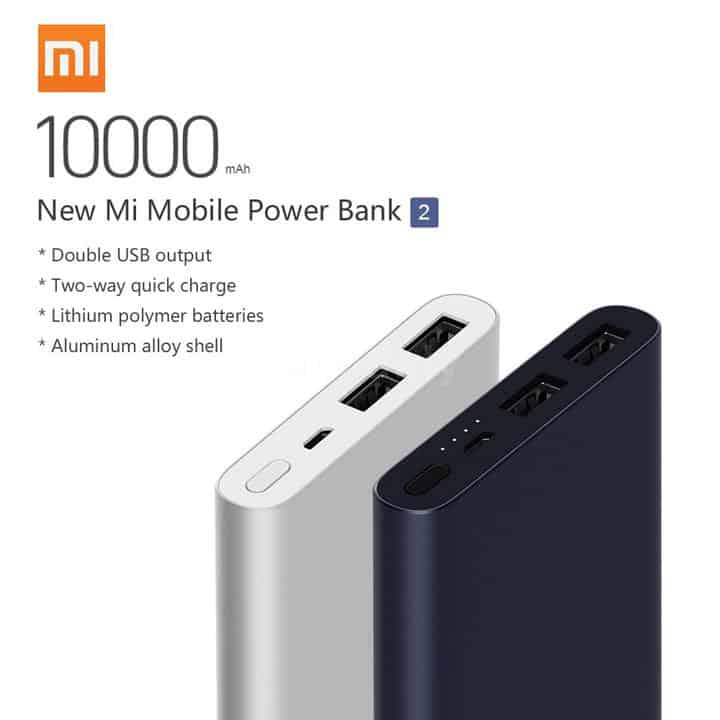 Oferta Xiaomi Power Bank 2 10.000 mA por 17 euros (Oferta FLASH)