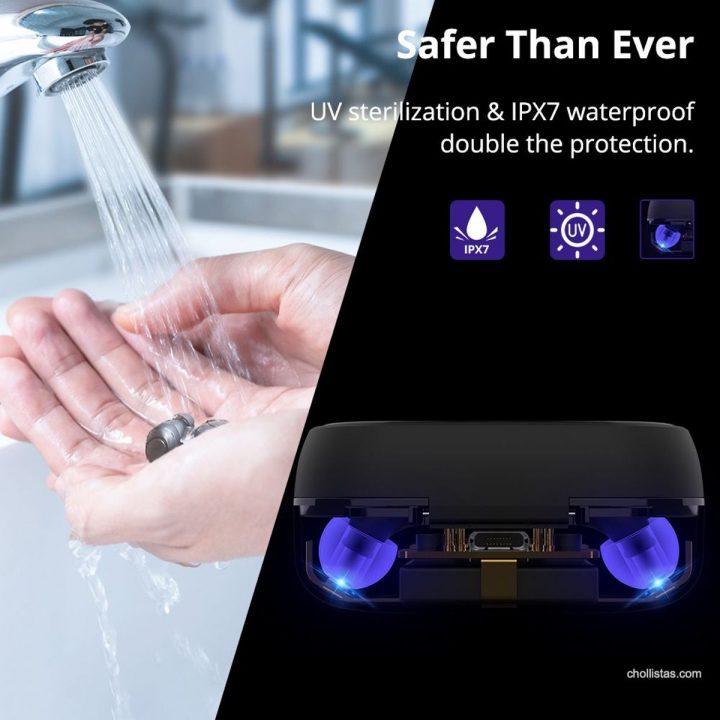 Auriculares Tronsmart Onyx Free con esterilización UV por 32 euros (Cupón Descuento) 1 tronsmart onyx free