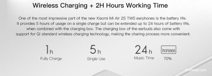 Auriculares bluetooth Xiaomi Air 2s de oferta por 61 euros desde España (Cupón Descuento) 4 xiaomi air 2s