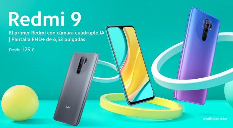 Oferta Xiaomi Redmi 9 64GB NFC por 102 euros desde España (Cupón Descuento)