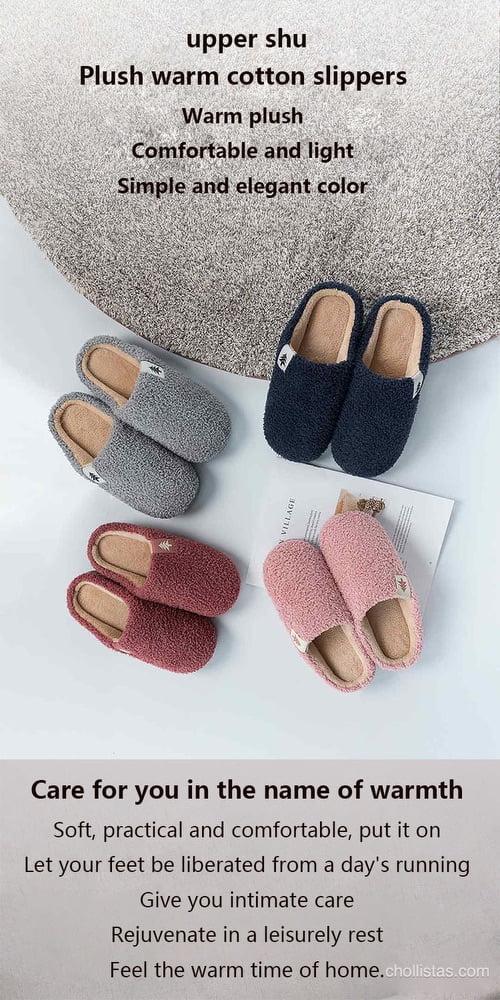 Oferta zapatillas de andar por casa de invierno Xiaomi por 7 euros