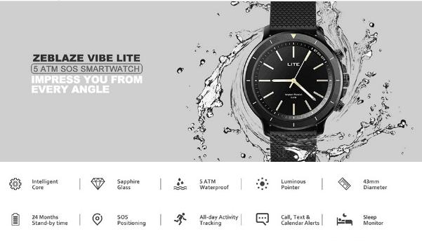 Chollo Smartwatch Zeblaze Vibe Lite SOS por 17 euros (Cupón Descuento) 1 Zeblaze THOR