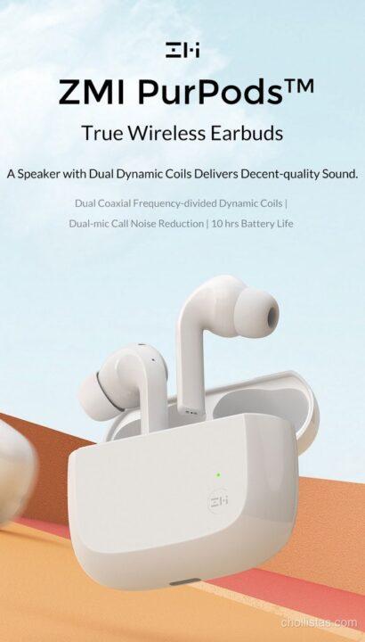 Oferta auriculares ZMI PurPods TWS